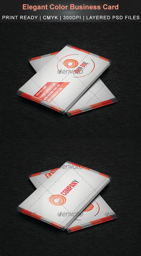 color business card templates color business card graphicriver