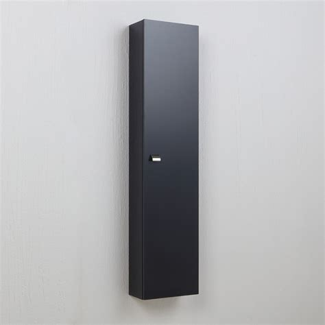 colonna per bagno colonna pensile da bagno con ripiani grigio antracite kv
