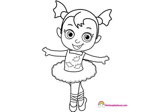 baby nosy vampirina ballerina coloring page coloring pages