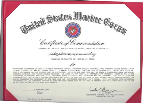 usmc certificate of commendation mangdienthoai