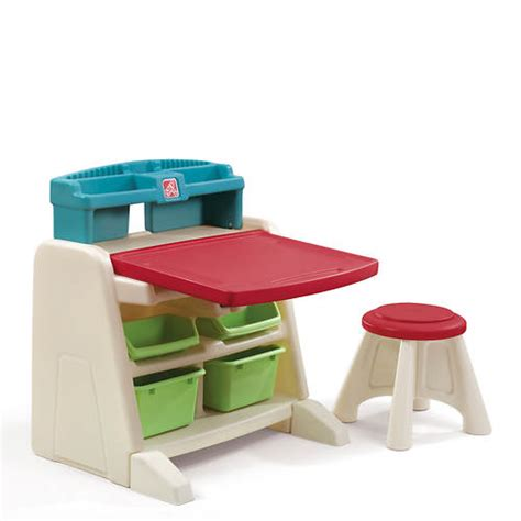 Step2 Flip And Doodle Easel Desk With Stool Uk by Step2 Flip Doodle Easel Desk With Stool Stoneberry