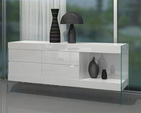 modern four drawer floating white buffet 44df10502
