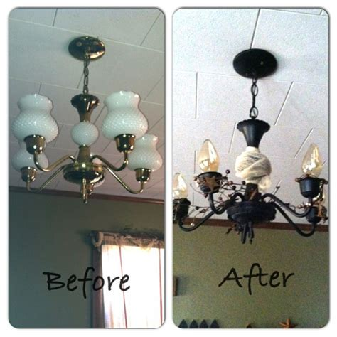 redo chandelier dining room chandelier redo live simply