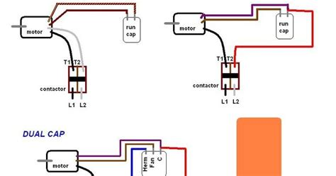 air conditioner run capacitor wiring diagram air