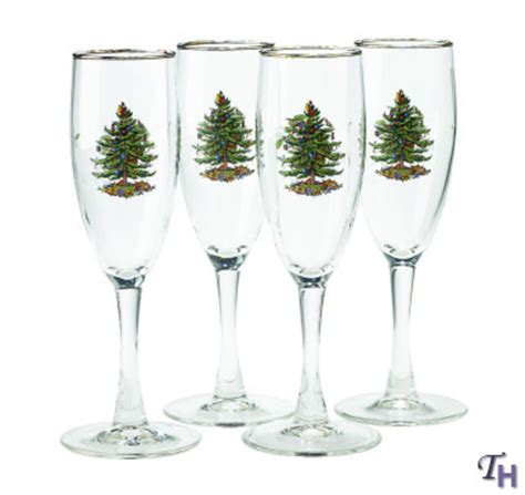 Spode Glasses - tree chagne flutes by spode