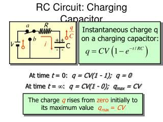 capacitor charging circuit pdf ppt process of charging and discharging in a capacitor powerpoint presentation id 3416845