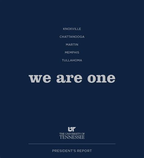 Annual Report President S Letter Of Tennessee Annual Report