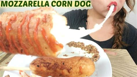 talking asmr giant mozzarella corn dog
