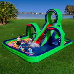 Ultimate Inflatable Backyard Water Park Inflatable Water Slides Blast Zone Jet Stream Inflatable