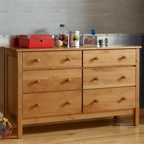 Child S Dresser by Simple 6 Drawer Dresser The Land Of Nod