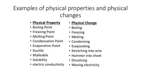 exle of physical change physical change exles alisen berde