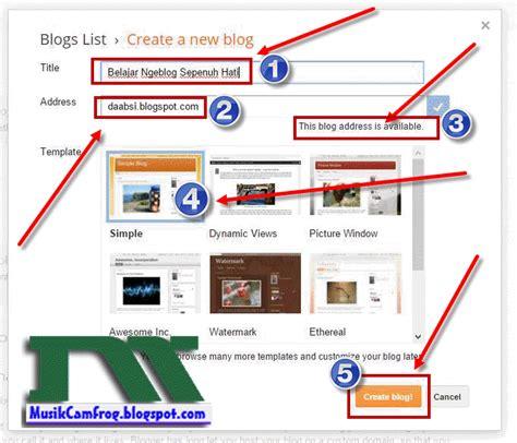 membuat alamat blog bagaimana cara belajar membuat blog baru sendiri di