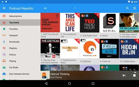 podcasts for android free free podcast player for android