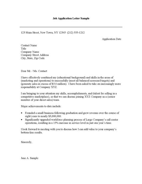 cover letter for new job the letter sle