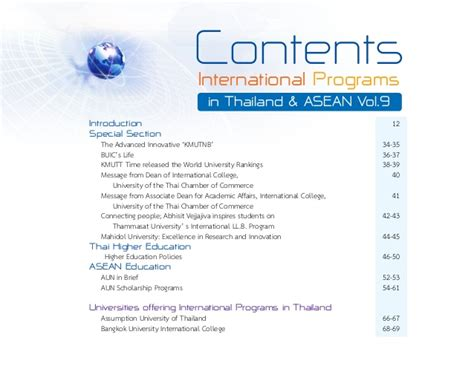 Mba Chula Inter by International Programmes In Thailand Asean Vol 9 Part 1