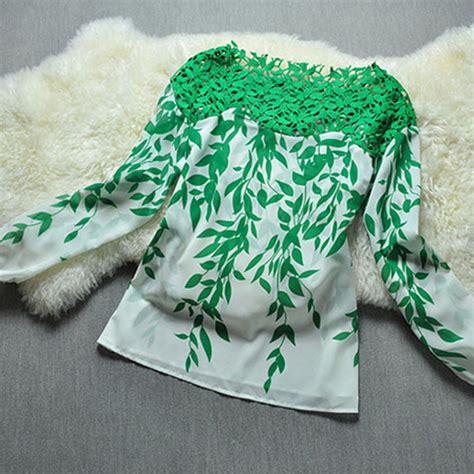 Petal Leaves Drop Longsleeve Top drop free shipping fashion hollow lace crochet