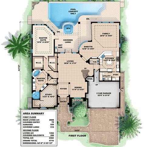 Lanai House Plans Loft Plus Lanai Equals 66258we 1st Floor Master Suite Butler Walk In Pantry Cad