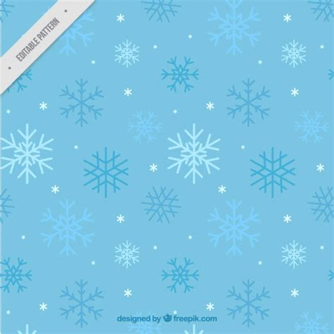 blue pattern of snowflakes vector free download