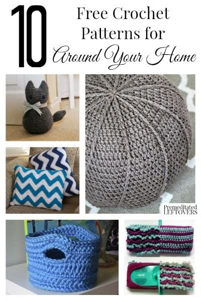 crochet home decor patterns 10 free home decor crochet patterns