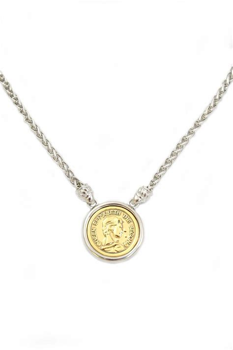 two tone coin necklace from florida by i ll never tell