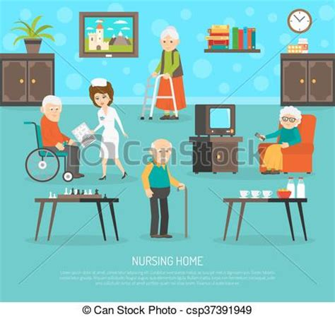 nursing home flat poster gerontology nursing