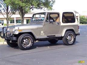 1990 sand beige metallic jeep wrangler 4x4