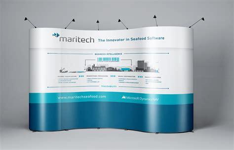trade show backdrop design maritech dynamics pivot creative communications
