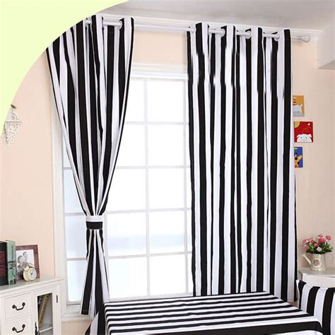 striped curtains black and white funky black and white striped curtains of cotton fabric