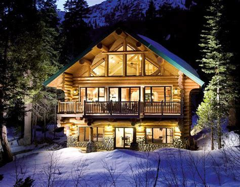 comfy cabin log homes