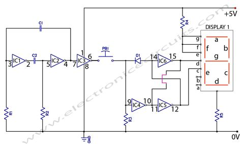 electronic coin toss circuit diagram electronic circuits