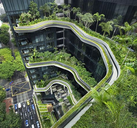 living architects green architecture living gardens at park royal hotel in