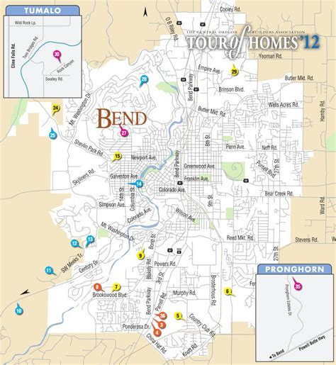 bend oregon map map of bend oregon pictures to pin on pinsdaddy