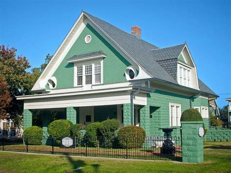 house colour green green house with white trim 2017