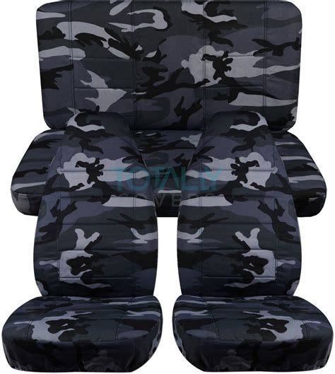 Camo Seat Covers For Jeep Wrangler Jeep Wrangler Yj Tj Jk 1987 2017 Camo Seat Covers Front