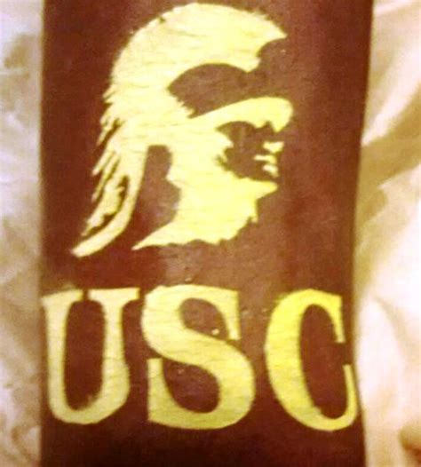 usc tattoo painting and airbrush tattoos at usc football