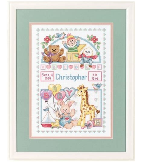 Find My Birth Records For Free Dimensions Birth Record For Baby Cntd Cross Stitch Jo