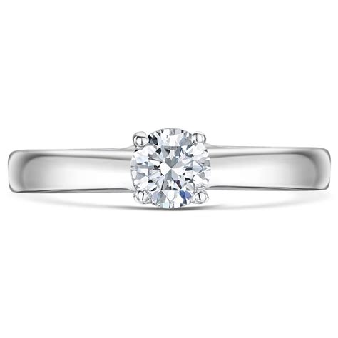 9ct white gold third carat solitaire engagement
