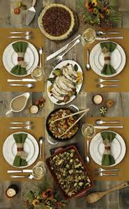 This beautiful and inviting thanksgiving table included dishes served