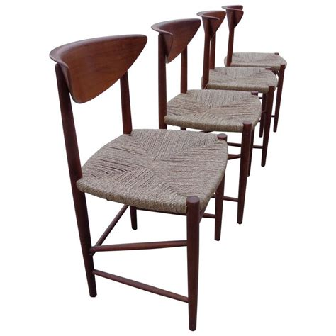 Sea Grass Dining Chairs Dining Chairs By Hvidt And M 248 Rlgaard In Teak And Seagrass For Sale At 1stdibs