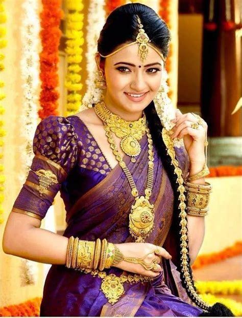 on pinterest saree blouse south indian bride and bridal sarees dark violet kancipuram silk saree silk saree pinterest