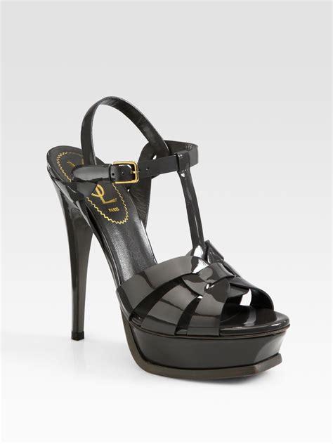 ysl sandals laurent ysl tribute patent leather platform sandals