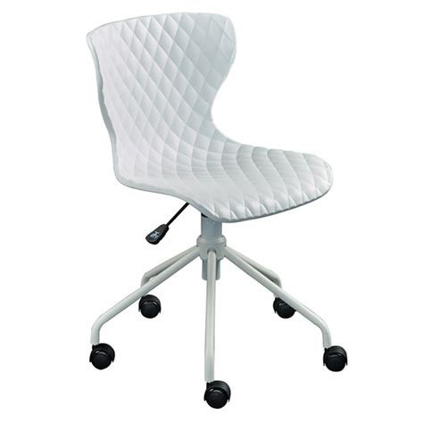 white modern desk chair modern office chairs daly white task chair eurway