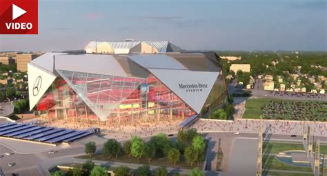 all new mercedes stadium unveiled in atlanta will