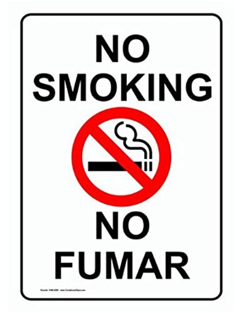 no smoking sign cad compliancesigns aluminum no smoking sign 14 x 10 in with