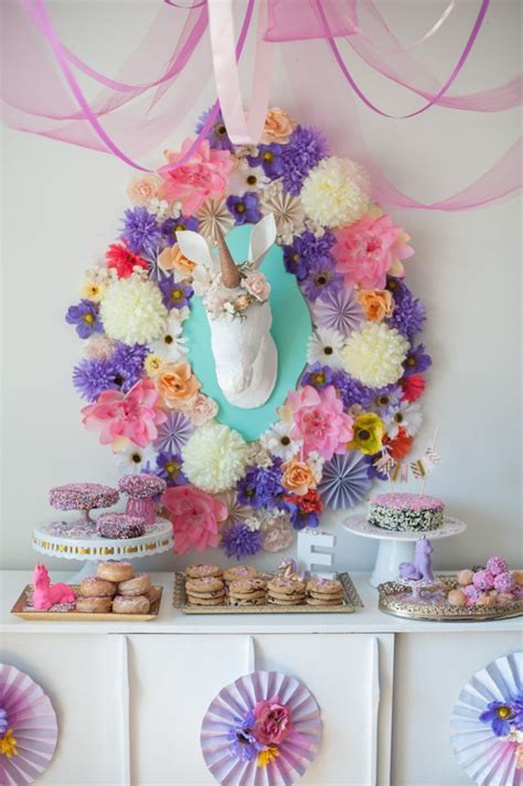 unicorn themed birthday party whimsical unicorn birthday party kara s party ideas