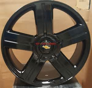 24 wheels edition style gloss black rims fit chevy