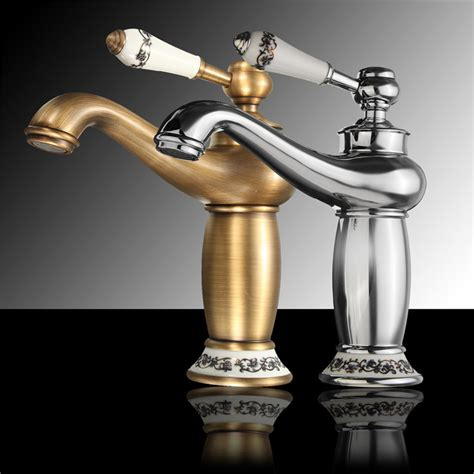 Antique Bronze Bathroom Fixtures Bathroom Faucet Brass Basin Sink Faucet Contemporary Single Handle Water Taps Antique Bronze