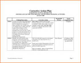 corrective templates doc 585686 corrective plan template corrective