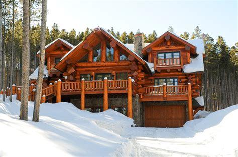 pioneer log homes of b c breckenridge rustic exterior