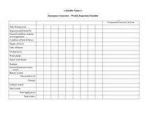 Weekly Inspection Sheet Google Search Office Pinterest Generator Checklist Template